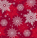 Celebrate the Season Wine Snowflakes Yardage