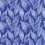 Horizon Ultramarine Leaves Yardage