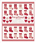 Merry Merry Ribbon Advent Stockings Quilt Panel