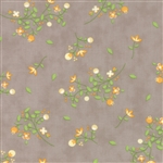 Sundrops Taupe Blossoms Yardage