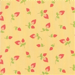 Sundrops Dark Yellow Rosebuds Yardage