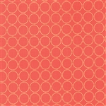 Sundrops Dark Coral Circled Yardage
