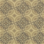 Basicgrey Floral Geometric Tiles Modern Vogue Tan Yardage
