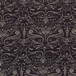 Basicgrey Floral Damask In Style Black Yardage