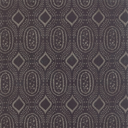 Black Tie Affair Grey on Black Woven Vine Yardage