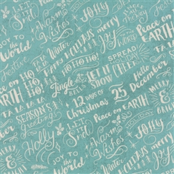 Juniper Berry Winter Sky Good Cheer Yardage