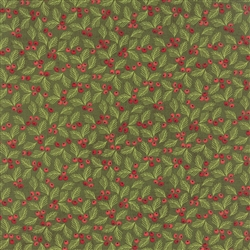 Juniper Berry Winter Pine Holly Berry Yardage
