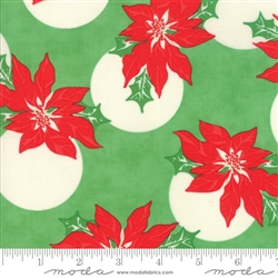 Swell Christmas Green Poinsettia Polka Dot 31121-14