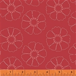 Hazel Red Stencil Flower Yardage