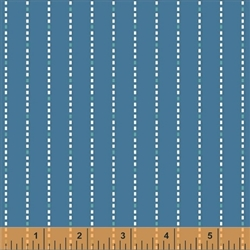 Hazel Blue Dotted Stripe Yardage