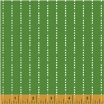 Hazel Green Dotted Stripe Yardage