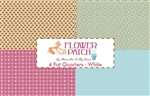 Flower Patch Fat Quarter Panel - White