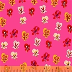 Sleeping Porch Hot Pink Pansies Cotton Lawn Yardage
