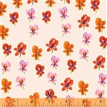 Sleeping Porch Blush Pansies Cotton Lawn Yardage