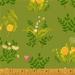 Sleeping Porch Green Bouquet Cotton Lawn Yardage