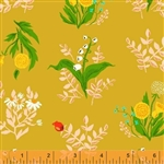Sleeping Porch Marigold Bouquet Cotton Lawn Yardage