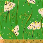Sleeping Porch Green Sleeping Moths Cotton Lawn Yardage