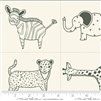 Savannah Charcoal Little Critter Quilt Panel SKU# 48220-21 Savannah by Gingiber for Moda Fabrics