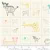 Savannah Multi Critter Galore Quilt Panel SKU# 48221-11 Savannah by Gingiber for Moda Fabrics