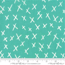 Savannah Peacock X-Marks Yardage SKU# 48224-16 Savannah by Gingiber for Moda Fabrics