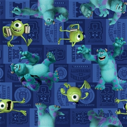 Disney Monsters Inc Mike and Sully Character Toss