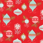 Vintage Holiday Red Vintage Ornaments Flannel 55160-11F