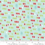 Vintage Holiday Aqua Trees Flannel 55163-13F
