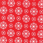 Vintage Holiday Red Snowflakes 55166-11
