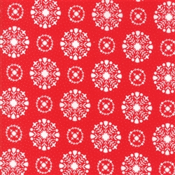 Vintage Holiday Red Snowflakes 55166-11F