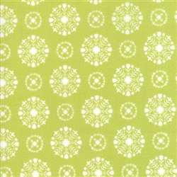 Vintage Holiday Green Snowflakes 55166-16F
