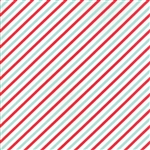 Vintage Holiday Aqua - Red Bias Candy Stripe 55168-12F