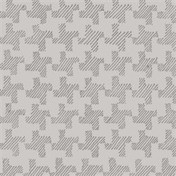 Twirl Gray Houndstooth