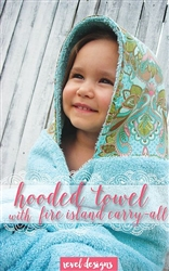 Hooded Towel with Fire Island Carry-All