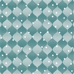 Holiday Cheer Blue Harlequin Yardage