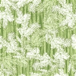 Holiday Cheer Green Branches Yardage