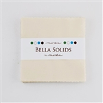 "Bella Solids Ivory 60 5"" Charm Squares"