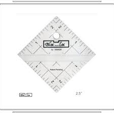 "2.5"" Bloc Loc Half Square Triangle Square Up Ruler"