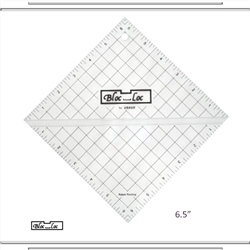 "6.5"" Bloc Loc Half Square Triangle Square Up Ruler"