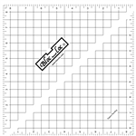 "8.5"" Bloc Loc Half Square Triangle Square Up Ruler"