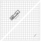 "9.5"" Bloc Loc Half Square Triangle Square Up Ruler"
