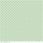 Sidewalks Hopscotch Teal Yardage