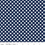 Riley Blake Small Dot on Navy