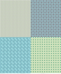 Gracie Girl Four Fat Quarters, Gray Colorway