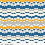 Little Ark Blue Chevron Yardage