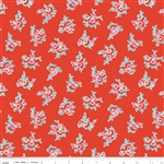 Milk Sugar Flower Milk Floral Red Yardage