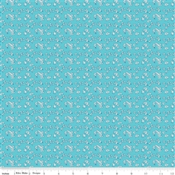 Milk Sugar Flower Milk Petals Blue Yardage