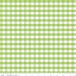 Cotton Medium Green Gingham Yardage