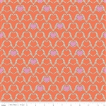 Zombie Love Heart Orange Yardage by Riley Blake Designs <br/> C4961-Orange
