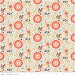Woodland Floral Cream Yardage