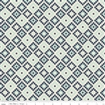 Woodland Geometric Navy Yardage